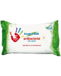 Fresh'n'Soft Antibacterial Wipes - Kills 99.9% Of Bacteria - 60pck
