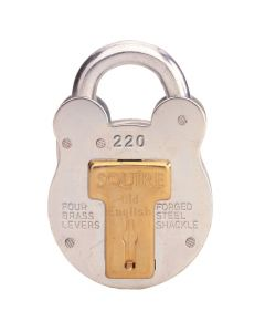 Squire 220KA - Old English - Small Galvanised Steel Padlock - 4 Lever - Keyed Alike