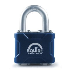 Squire 37 - Stronglock 4 Pin Tumbler 45mm Laminated Double Locking Padlock - Open Shackle