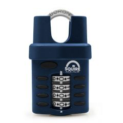 Squire CP40CS - Weather Resistant 40mm Combination Padlock - 4 wheel - Closed Shackle