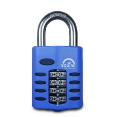 Squire CP40S - Weather Resistant 40mm Combination Padlock - 4 wheel - SS Open Shackle