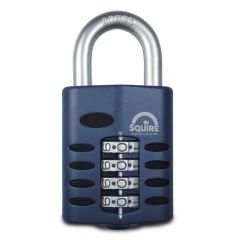 Squire CP50 - Weather Resistant 50mm Combination Padlock - 4 wheel - Open Shackle
