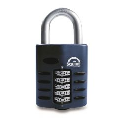 Squire CP60 - Weather Resistant 60mm Combination Padlock - 5 Wheel - Open Shackle
