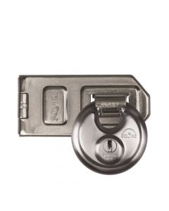 Squire DCL1/DCH1 - Disc style Stainless steel Padlock, Hasp & staple