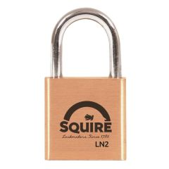 Squire LN2 - Lion Range - 25mm Premium Solid Brass Padlock - Open Shackle