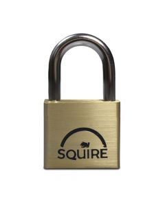Squire LN4KA - Lion Range - 40mm Premium Solid Brass Double Locking Padlock - Open Shackle - Keyed Alike