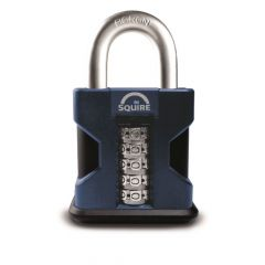 Squire SS50/COMBI - Stronghold Hardened steel SS50 Combination High Security Padlock With Weather Cover - 5 Wheel - Open Shackle