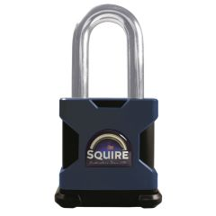 Squire SS65S/2.5 - Stronghold 65mm Hardened Steel Padlock - Long Shackle 2.5""