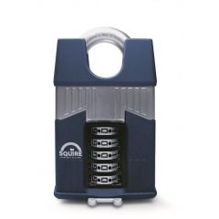 Squire Warrior 65mm Combination padlock - 5 Wheel - Closed Shackle