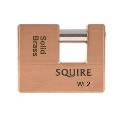 Squire WL2KA - Warehouse Lock Range - Medium 70mm Brass Block Padlock - Keyed Alike