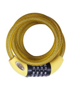Squire 216 YELLOW - Combination Cable Lock 10mm x 1800mm - Yellow