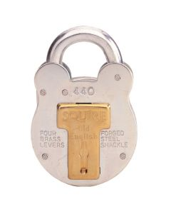Squire 440KA - Old English - Medium Galvanised Steel Padlock - 4 Lever - Keyed Alike