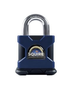 Squire SS50S 8mm - Stronghold 50mm Hardened Steel Padlock - Open Shackle 8mm Dia - Master Keyed